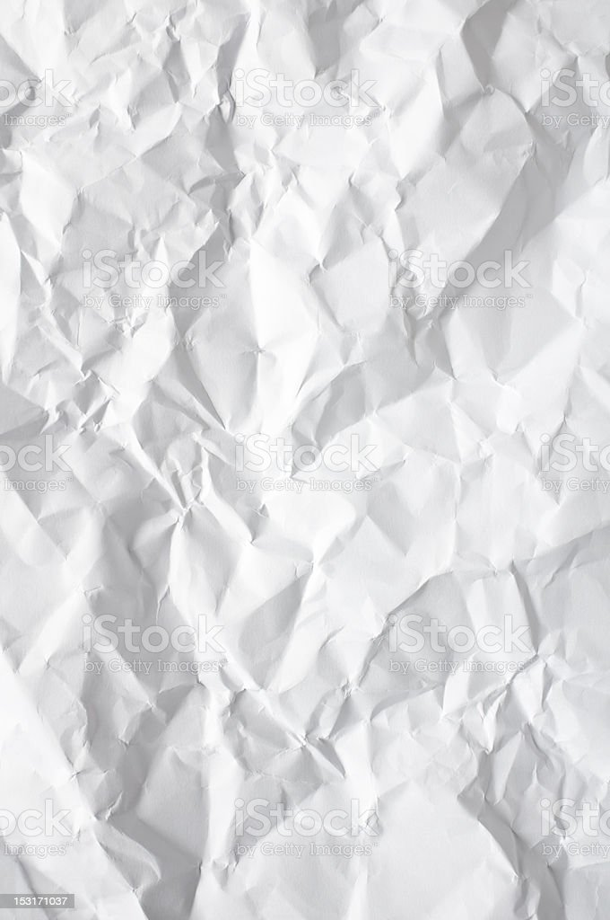 Crumpled White Paper royalty-free stock photo