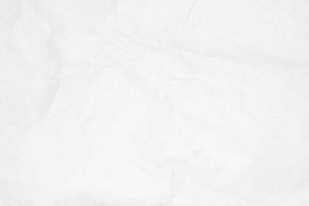 Crumpled white paper texture or paper background. - foto stock