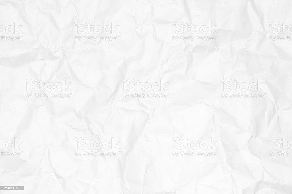 Crumpled white paper texture or paper background. royaltyfri bildbanksbilder