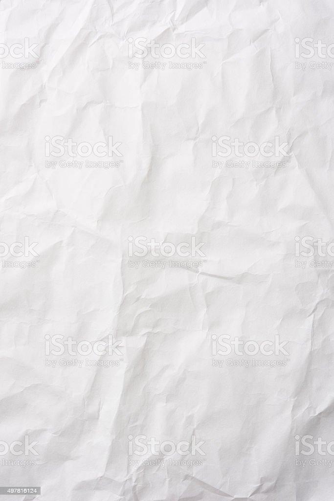 Crumpled white rice paper background stock photo