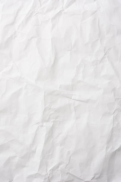 Crumpled white rice paper background stock photo
