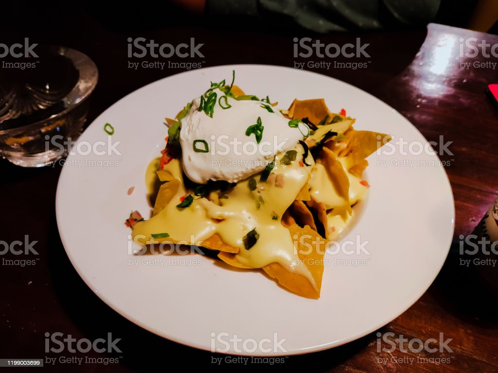 Crunchy Cheese Nachos With Kidney Beans Stock Photo Download Image Now Istock
