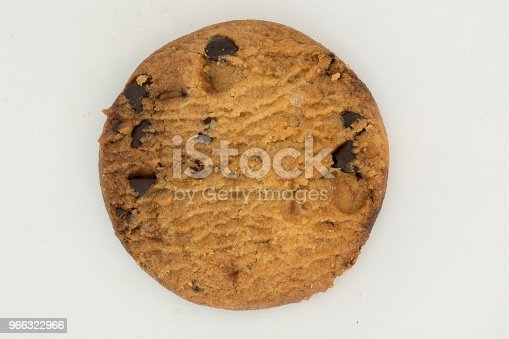 crunchy cookies on white background