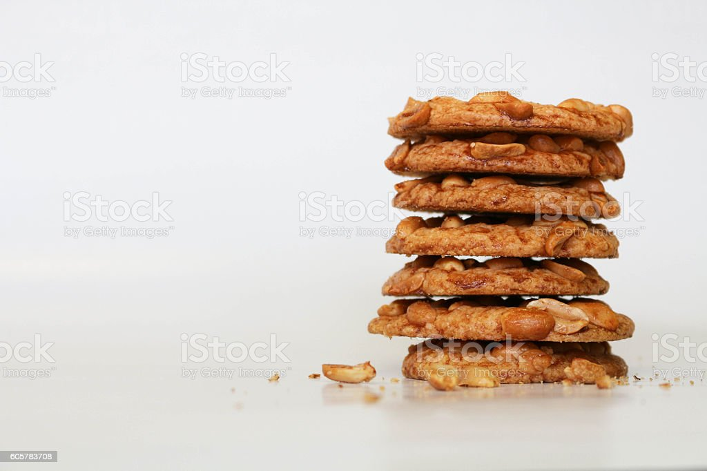 Crunchy Nut Cookies stock photo