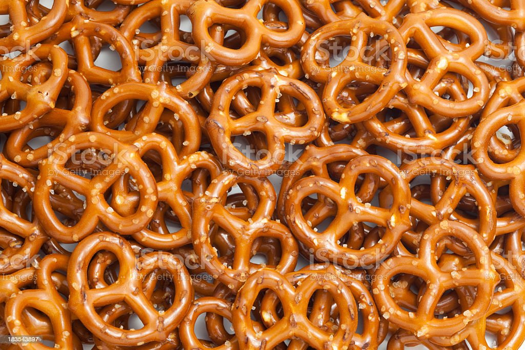 Crunchy snack pretzel background stock photo