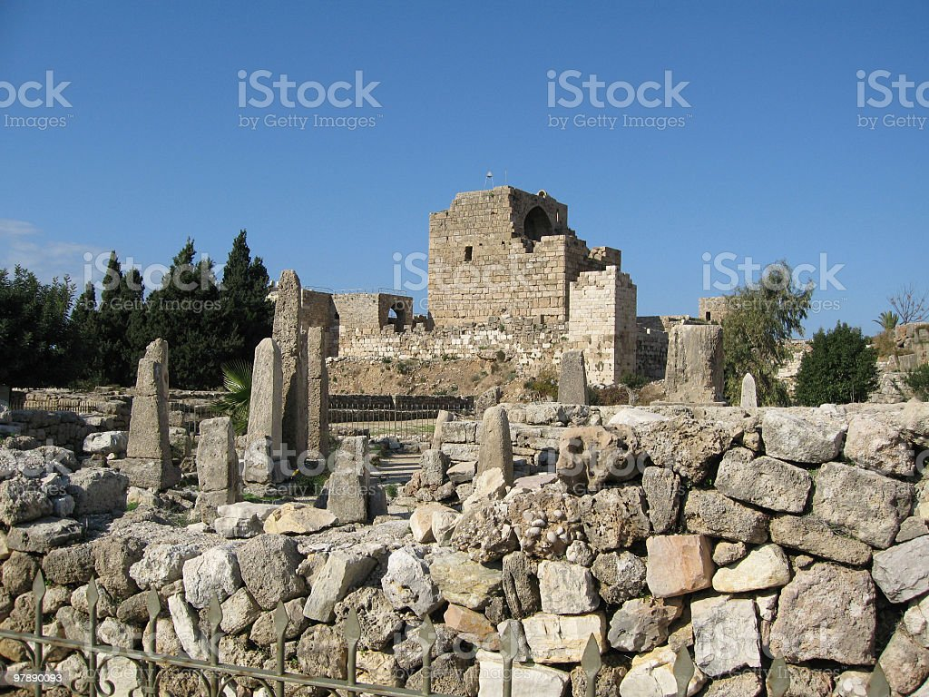 Crusader's Castle and Temple Of The Obelisks royalty-free stock photo