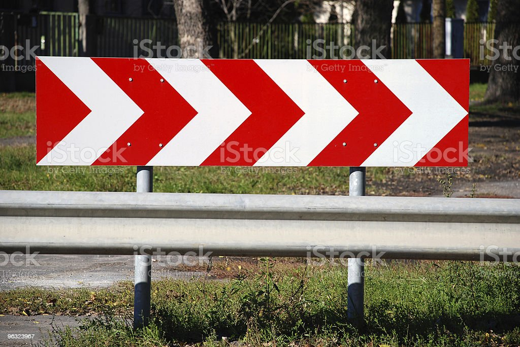 crush barrier on the roadside royalty-free stock photo