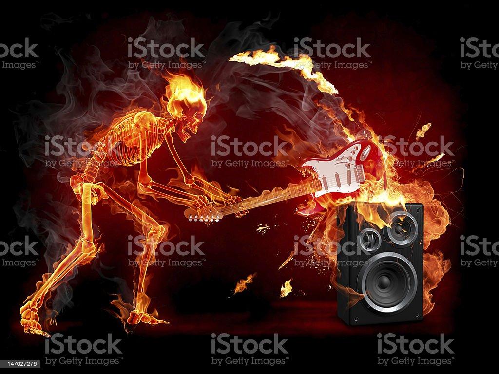 Crush guitar stock photo
