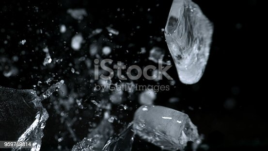 istock Crush ice isolated black background 959749814