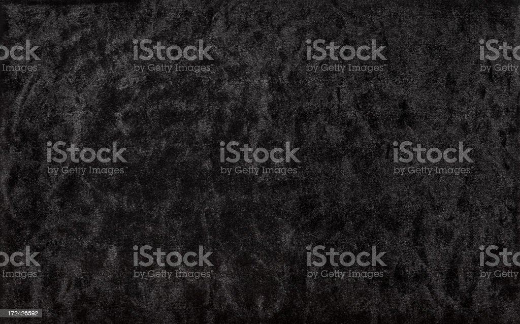 Crushed black velvet background stock photo