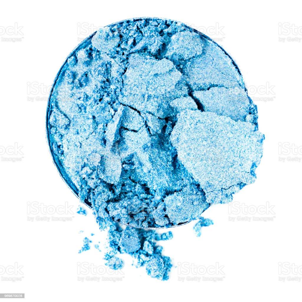 Crushed Blue Eyeshadow stock photo