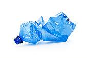 クラッシュ青色プラスチック製ボトル