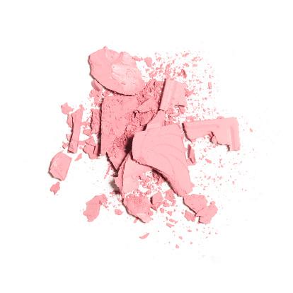 Pink blush crushed isolated on white background