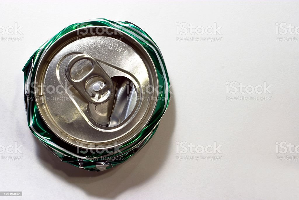 Crushed Can royalty-free stock photo