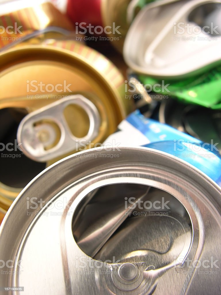 Crushed cans royalty-free stock photo