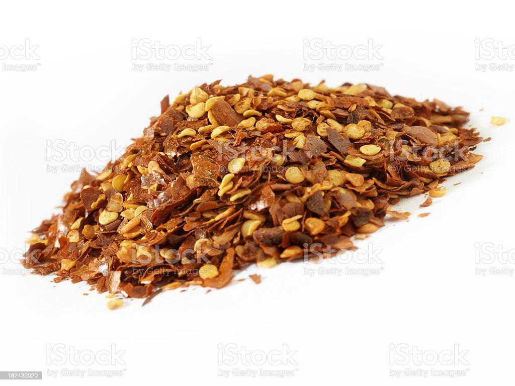Crushed Chili Flakes royalty-free stock photo