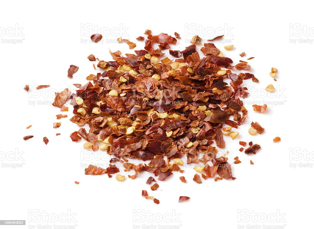 Crushed chilli peppers stock photo