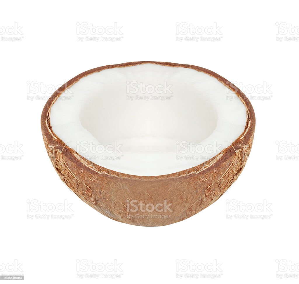Crushed cocnut isolated royalty-free stock photo