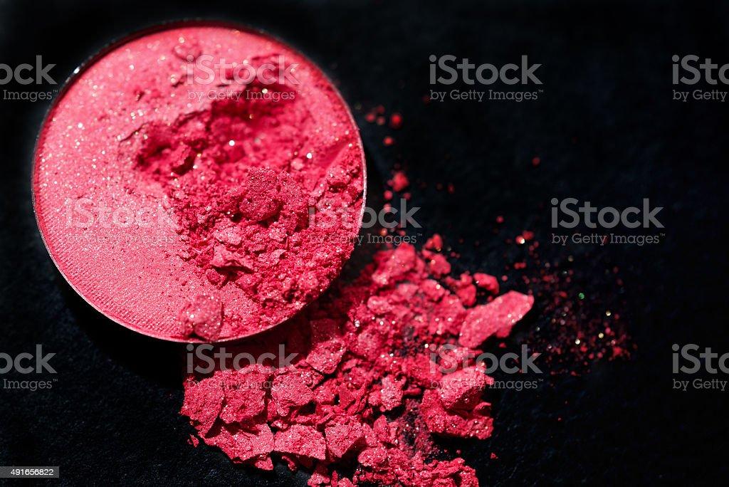 Crushed eyeshadow background stock photo