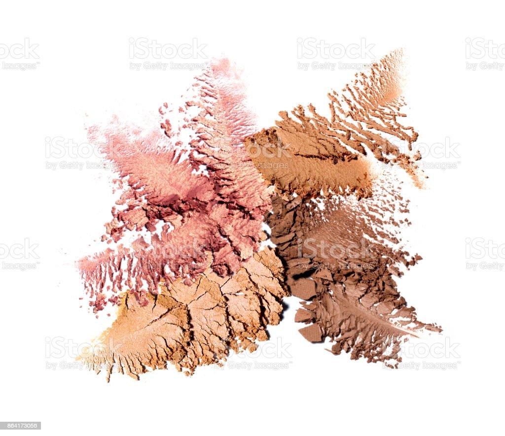 Crushed eyeshadow isolated on white royalty-free stock photo