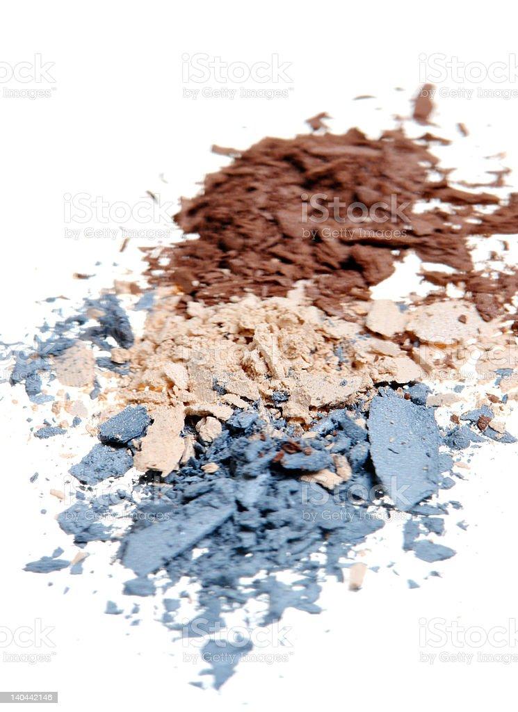 Crushed Eyeshadow royalty-free stock photo
