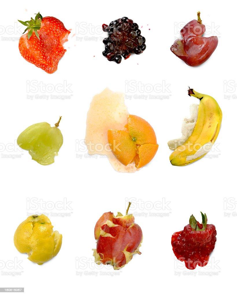 crushed fruits stock photo