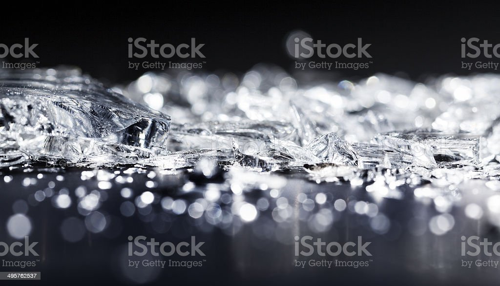 Crushed glass stock photo