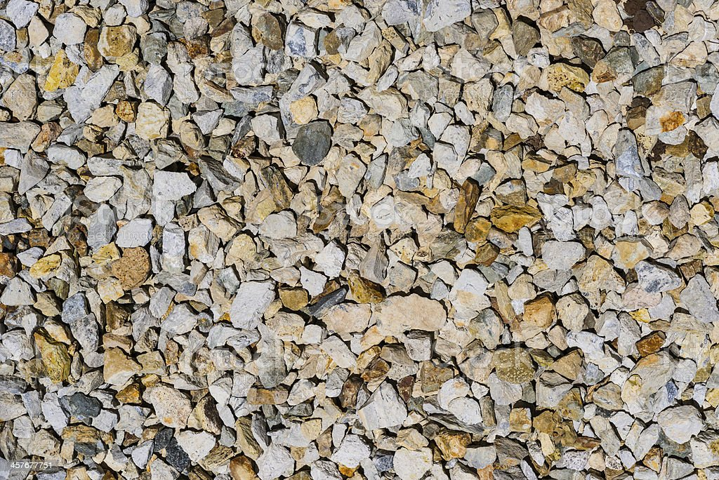 Crushed gravel stock photo