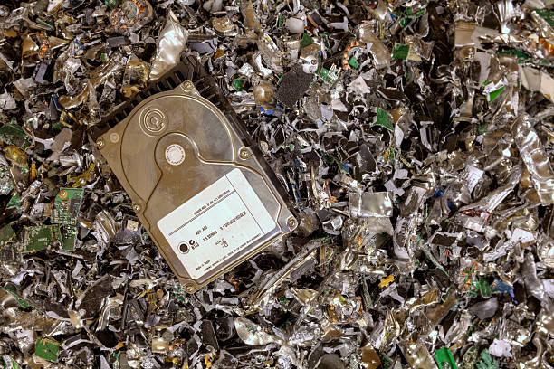 purê de discos rígidos - destruição - fotografias e filmes do acervo