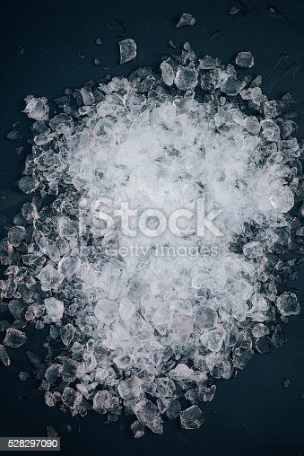 Crushed ice from above background