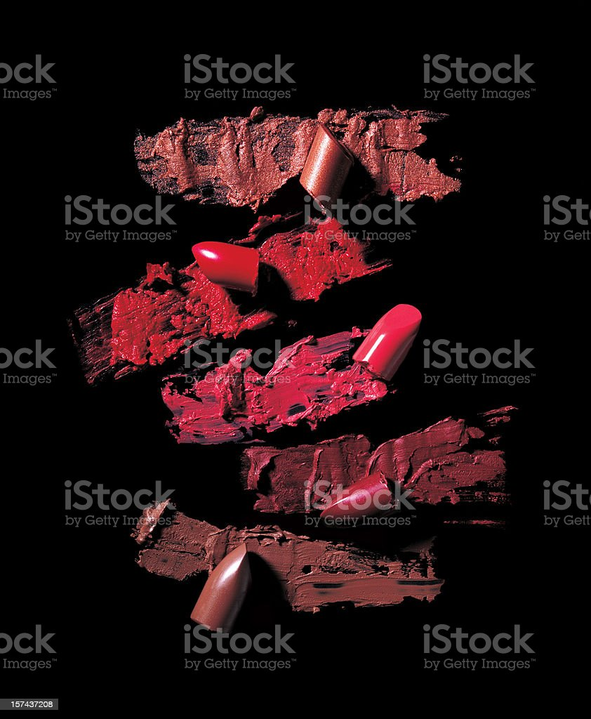 Crushed Lipsticks stock photo