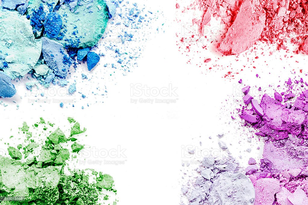 Crushed Makeup Background stock photo