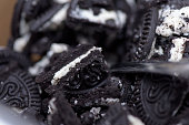 Crushed Oreo cookie topping