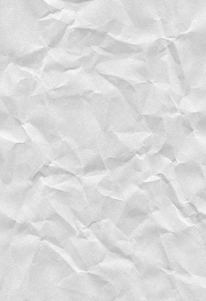 Crushed Paper XXXL Crushed White Paper wrinkled stock pictures, royalty-free photos & images