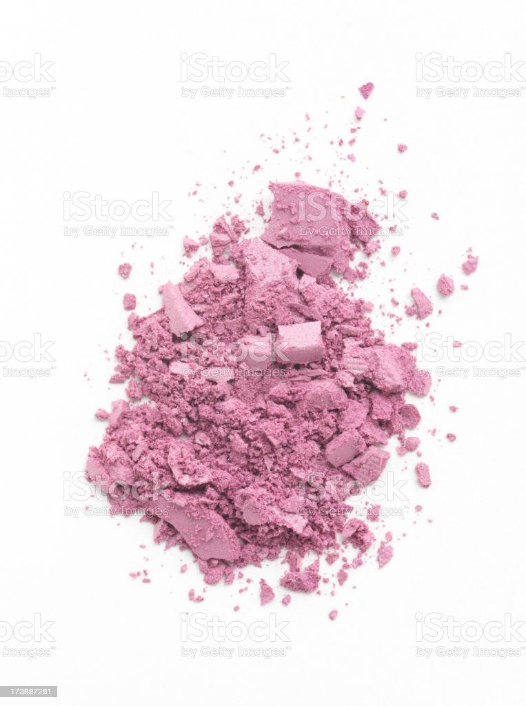 Crushed  Pink Makeup royalty-free stock photo