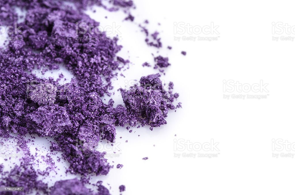 Crushed purple eye shadow royalty-free stock photo