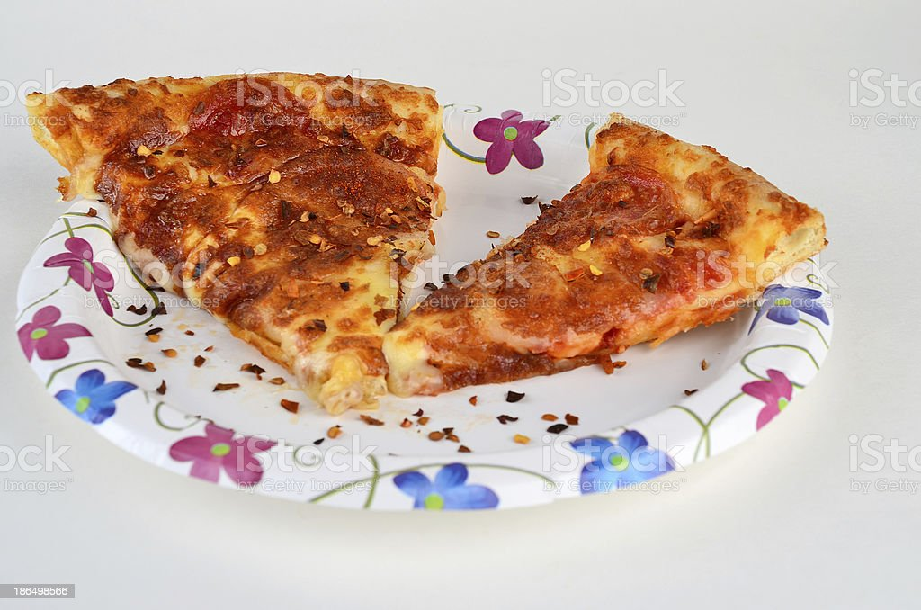Crushed Red Pepper on Pizza royalty-free stock photo