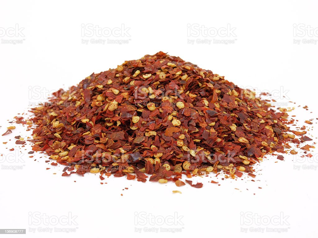 Crushed Red Pepper Spice royalty-free stock photo