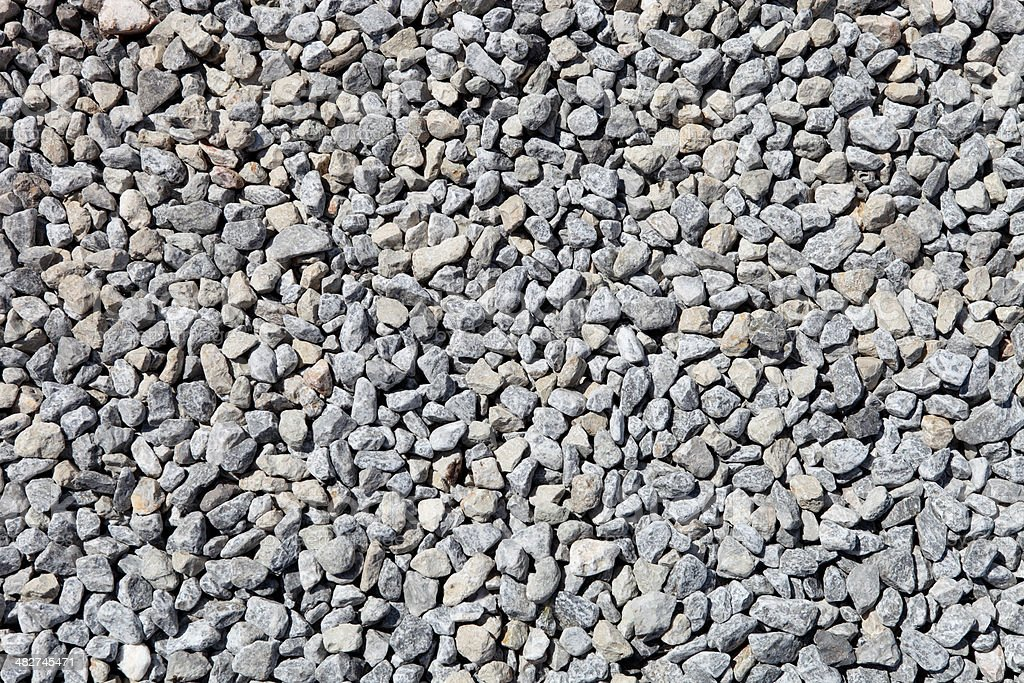 Crushed rock stock photo