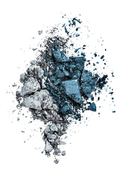 Crushed Silver and Blue Eyeshadows stock photo