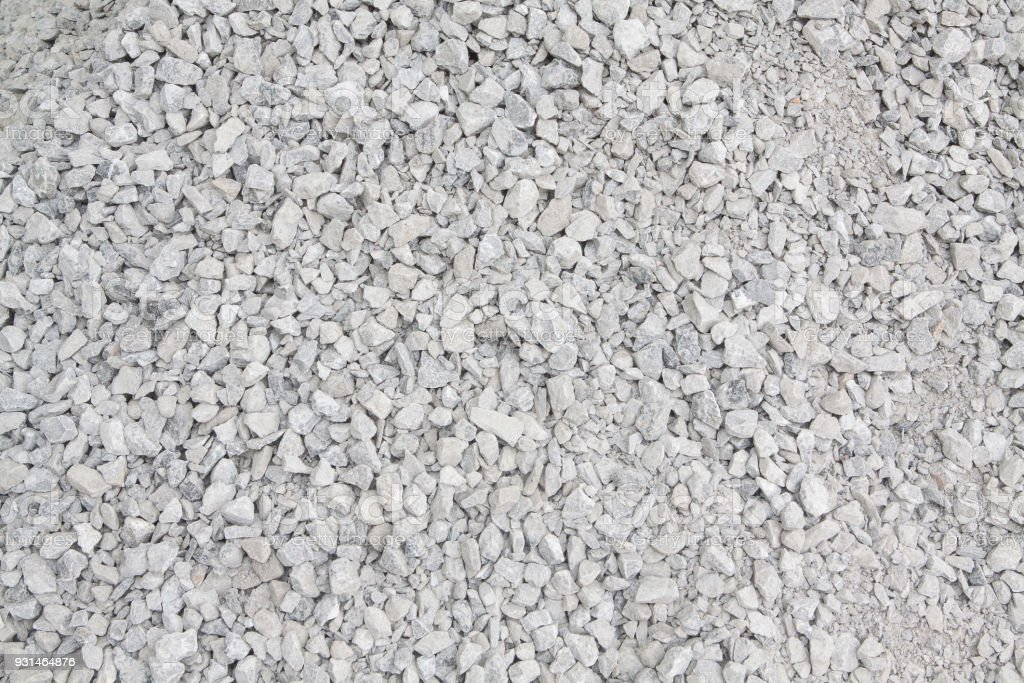 Crushed stone construction materials.Crushed stone texture background. stock photo