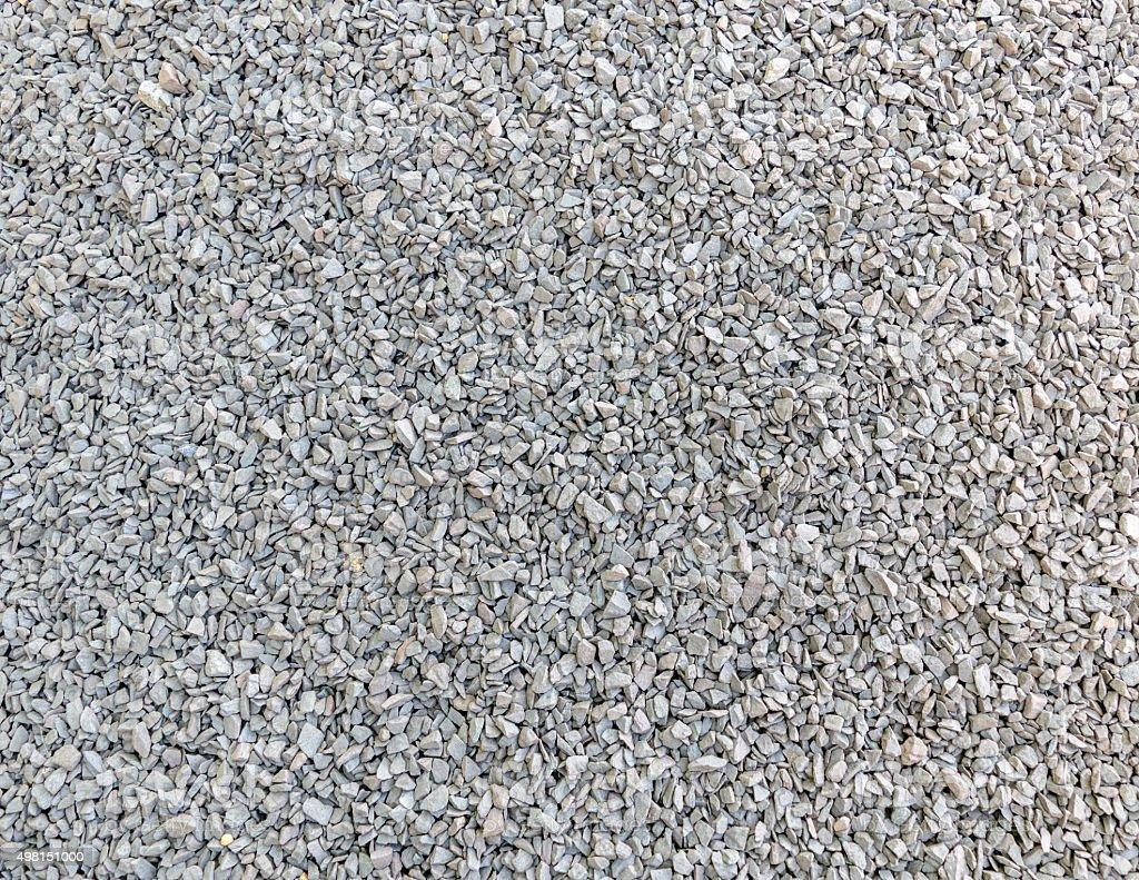 Crushed stone (macadam, rubble) stock photo
