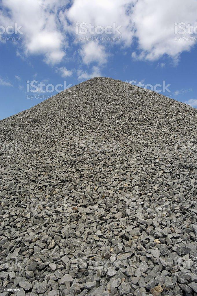 Crushed Stone royalty-free stock photo