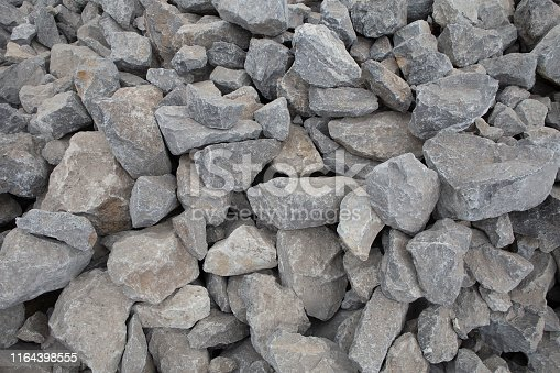 Crushed stone texture background. Crushed stone construction materials.