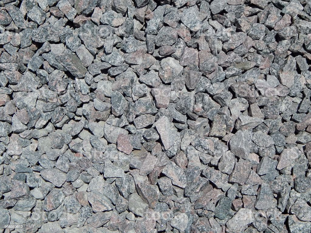 Crushed stone. The background and the texture of gravel, stone. stock photo