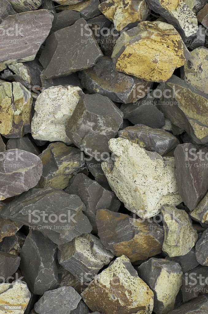 Crushed Stones Background royalty-free stock photo