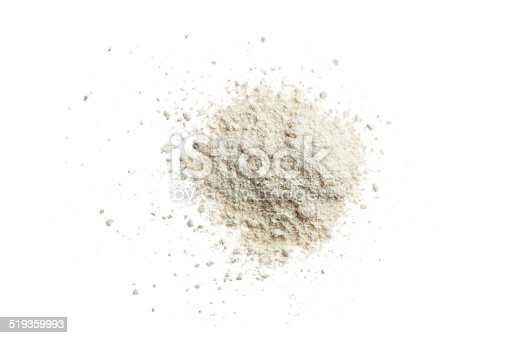 Crushed white color eyeshadow.