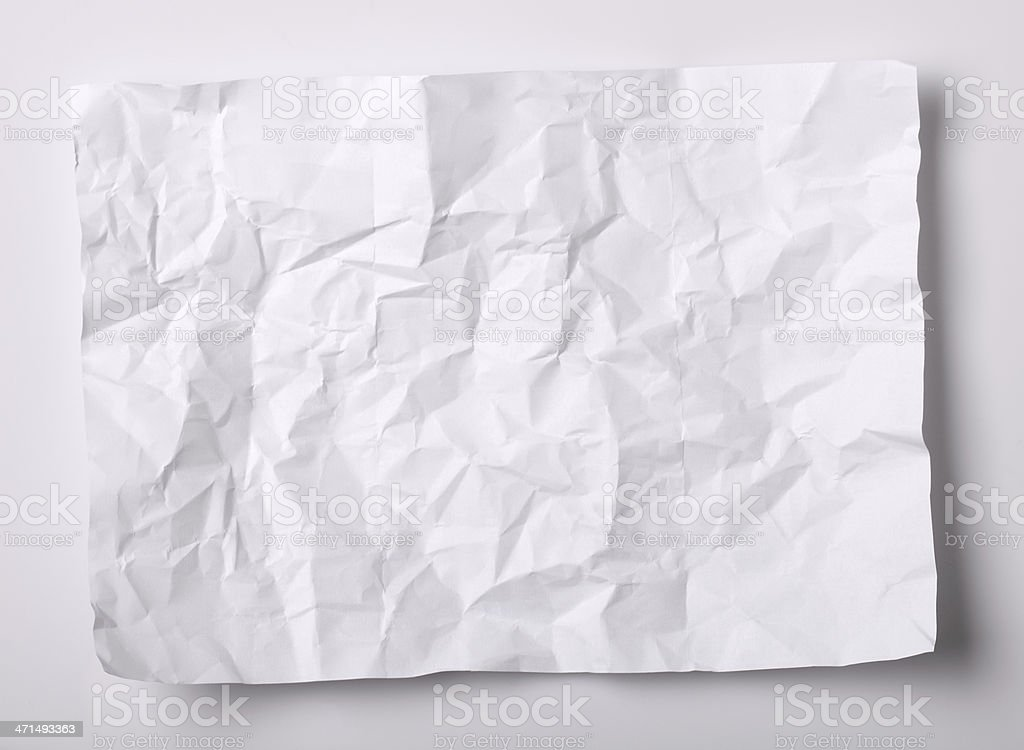 Crushed white paper royalty-free stock photo