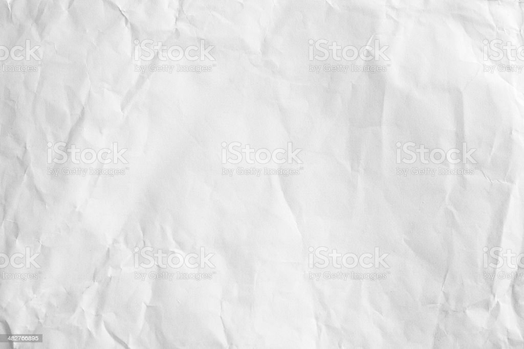Crushed white paper stock photo