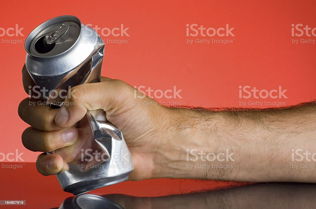 Crushing can royalty-free stock photo
